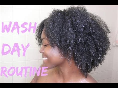 1 Hour Wash Day Routine  Natural Hair Youtube