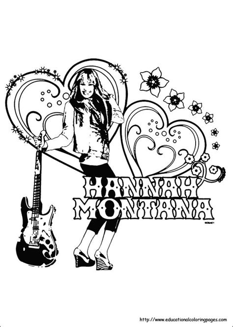 hannah montana coloring pages educational fun kids coloring pages  preschool skills worksheets