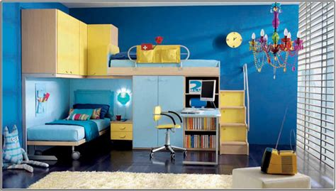 HD wallpapers blue white yellow bedroom