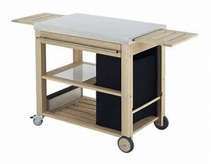 Meuble Pour Plancha : chariot eno mobilot inox et ch ne livraison gratuite ~ Melissatoandfro.com Idées de Décoration