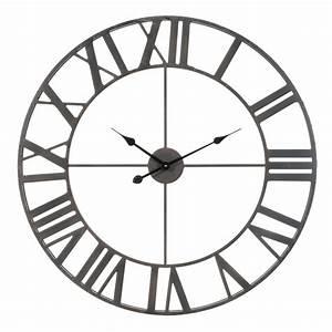 Horloge En Metal : horloge en m tal d 83 cm farmington maisons du monde ~ Teatrodelosmanantiales.com Idées de Décoration