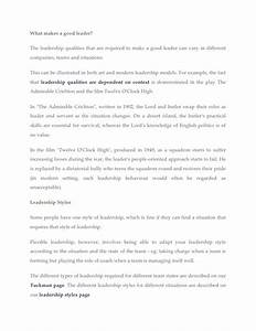 Sample Essays For High School Students What Is Leadership Essay Examples High School Persuasive Essay also Learning English Essay What Is Leadership Essay My School Days Essay What Makes A Good  Environmental Health Essay