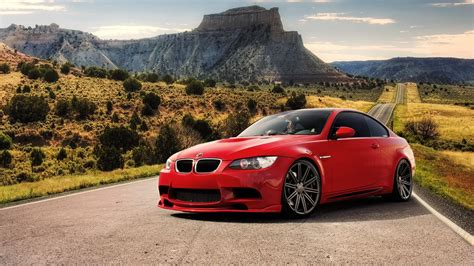 Red Cars Roads Tuning Bmw M3 Rims Tuned Wallpaper