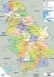 Detailed Political Map of Serbia - Ezilon Maps