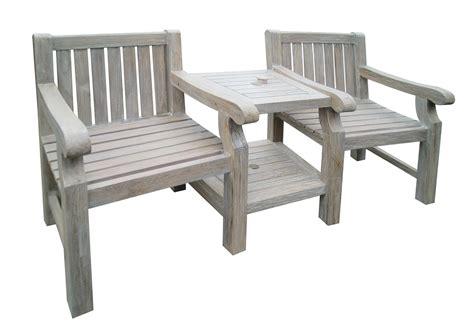 solid teak wood 2 seat sea tcompanion duo garden