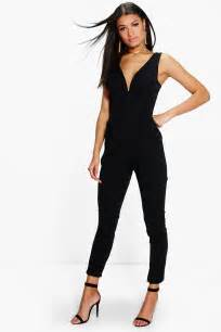 combi pantalon mariage molly plunge leg jumpsuit at boohoo