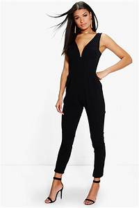 molly plunge skinny leg jumpsuit at boohoocom With robe pour mariage cette combinaison chevaliere