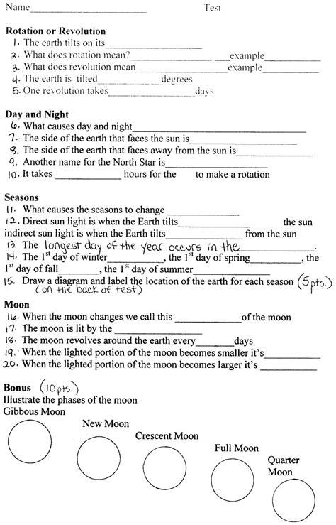 1st grade science worksheets for printable math