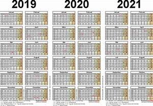 Jahreskalender 2018 2019 : dreijahreskalender 2019 2020 2021 als pdf vorlagen ~ Jslefanu.com Haus und Dekorationen