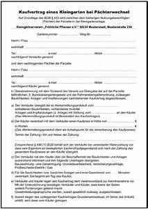 Vorläufiger Kaufvertrag Haus Vorlage : kaufvertrag kleingarten p chterwechsel formulare gratis ~ Orissabook.com Haus und Dekorationen