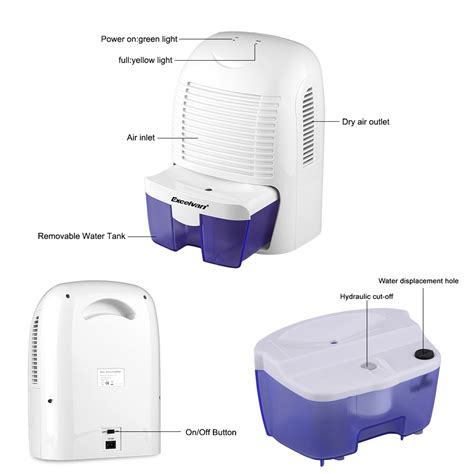 Dehumidifier For Bathroom Mold Mini Air Conditioner 1 5 L Dehumidifier Moisture Portable