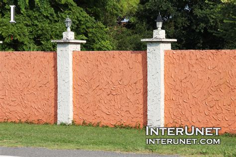 stucco fence ideas stucco finished solid fence interunet