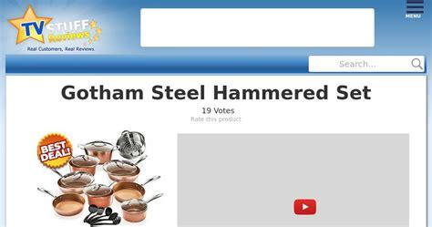 gotham steel hammered set reviews  good   true