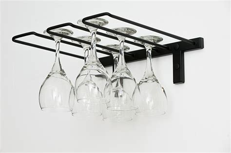 wall mounted glass rack stemware rack 2 to 6 wine glass capacity vintageview
