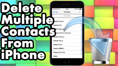 how to delete contacts on iphone how to delete or all contacts from your iphone