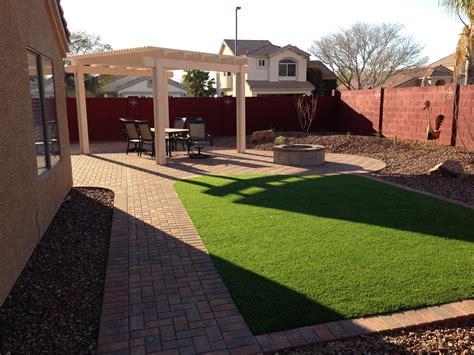 Free Backyard Design by Maintenance Free Arizona Backyard Landscape