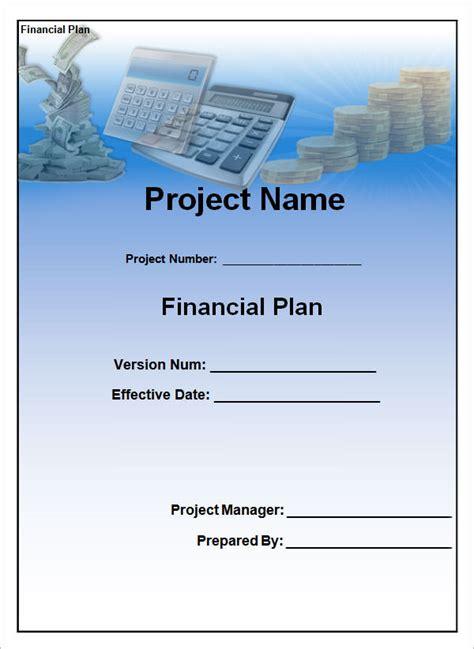 sample financial plan templates  google docs