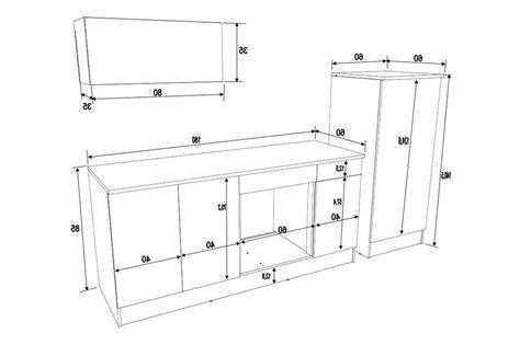 taille standard meuble cuisine meuble cuisine dimension galerie et taille standard meuble