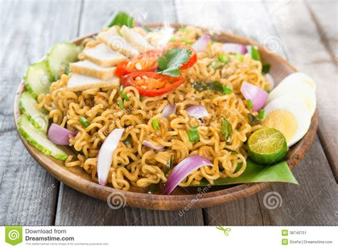 instant cuisine malaysian cuisine maggi goreng mamak stock image image