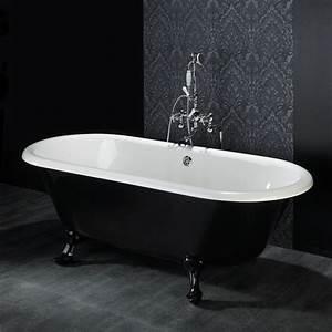 Reducteur De Baignoire Pas Cher : baignoire pieds lion en noir et blanc ~ Dailycaller-alerts.com Idées de Décoration