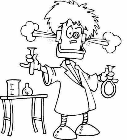 Coloring Pages Chemistry Science Scientist Mad Sheets