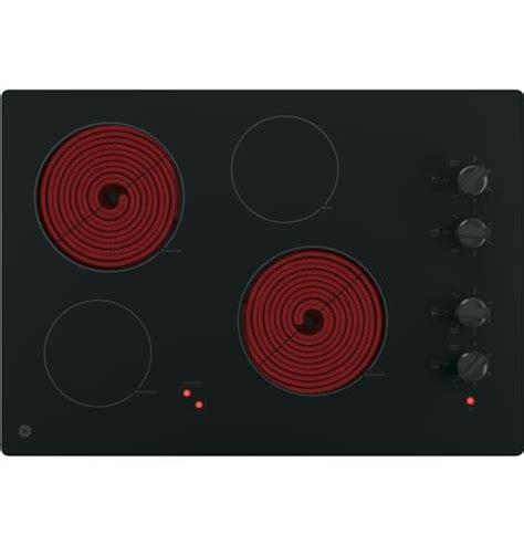 black radiant ge   built  knob control electric cooktop  burner glass top electric