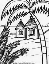 Hut Coloring Pages Beach Drawing Colouring Summer Jabba Island Hutt Tree Houses Malvorlagen Drawings 1000 Decor Designlooter Printable Zum Ausdrucken sketch template