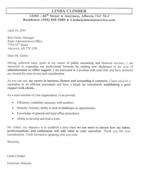 Cpa Cover Letter by Accountant Cover Letter Exle Sle