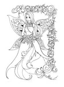 Fairy Line Art Coloring Pages
