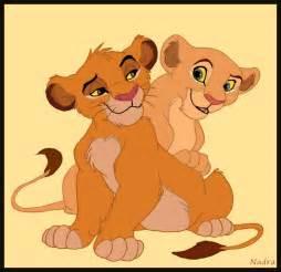Simba and Nala as cubs by HydraCarina on DeviantArt