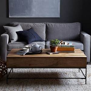 west elm rustic storage coffee table sumally With west elm raw mango coffee table