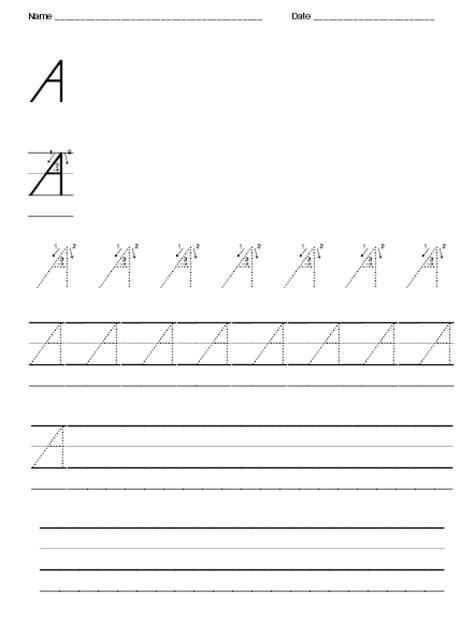 d nealian handwriting writing