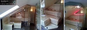 Led Profil Dachschräge : lauraline sauna design mit glas massivholzsauna oder ~ Michelbontemps.com Haus und Dekorationen
