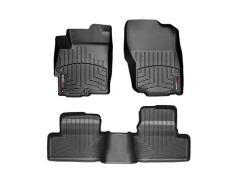 weathertech black floorliner digital fit floor mats evo