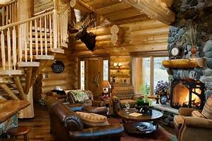 Log Cabin Makeovers Living Room Rustic With Banister
