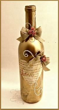 decorating wine bottles Designs by Lisa Somerville: Altered Wine Bottle