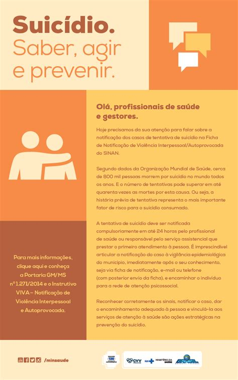 If you like suicidio, you may also like: SETEMBRO AMARELO - Ministério da Saúde divulga material informativo sobre suicídio no Brasil ...