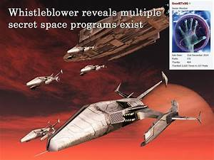 Whistleblower reveals multiple secret space programs ...