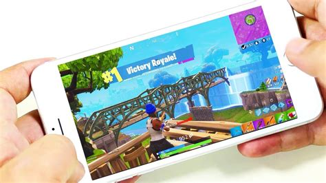 playing fornite  iphone  fortnite battle royale