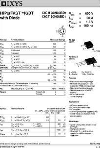 IXGH30N60BD1 datasheet - Specifications: Polarity: N ...
