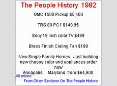 What Happened in 1982 inc Pop Culture, Prices and Events