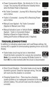 Error Codes Explained For A Valley Journey Hd Brake Controller