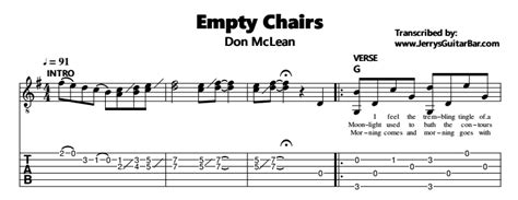 Don Mclean Empty Chairs Don Mclean Empty Chairs Guitar Lesson Jerry S Guitar Bar
