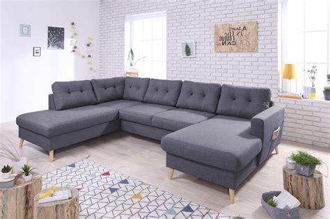 canapé panoramique tissu bobochic canapé panoramique tissu 8 places gris foncé