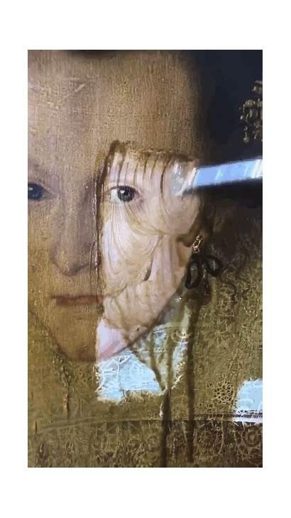 Painting Restoration Paintings Varnish Mona Lisa Gifs