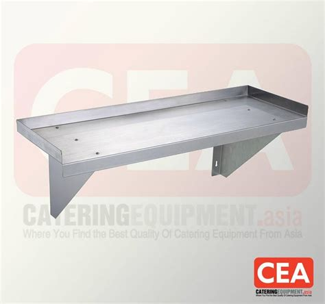 stainless steel solid kitchen shelving stainless steel 1 tier solid wall shelf th ws 1 cea