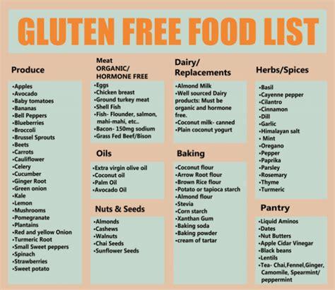 Gluten Free Food List Printable Healthsymptomsandcurecom