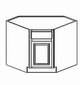 Hudson Painted Antique White Diagonal Corner Sink Base Cabinet