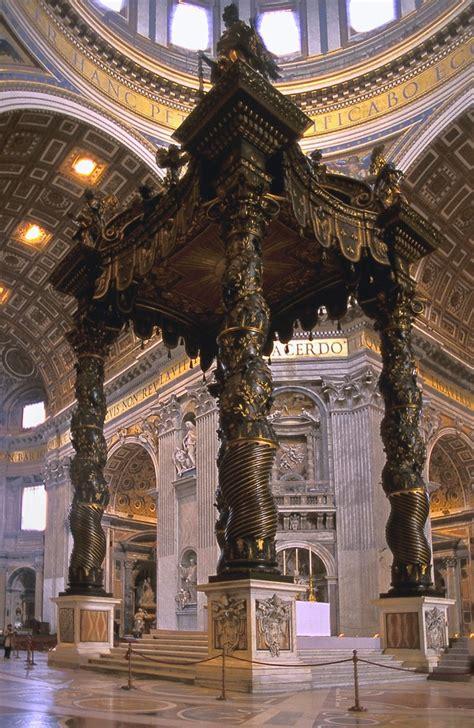 Baldacchino Di Bernini by Di Qua E Di La Gian Lorenzo Bernini Vita E Opere Romane