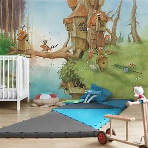 Fototapete Kinderzimmer Wald : wassili waschb r kindertapete wassili und familie ~ Watch28wear.com Haus und Dekorationen